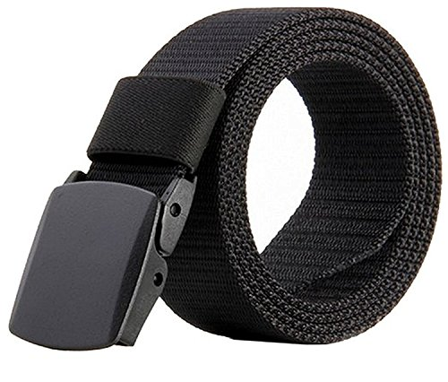 JasGood Nylon Canvas Breathable Military Tactical Men Waist Belt With Plastic Buckle