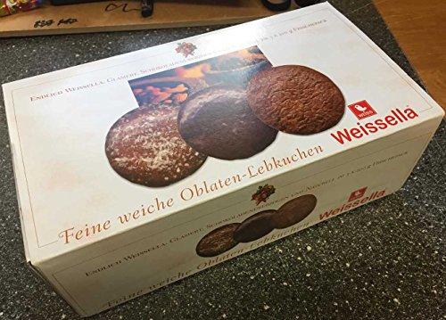 Preisvergleich Produktbild WEISS Weissella 3fach XL Oblaten Lebkuchen ( glasiert,  schokolade,  natur ) 3X 200g (600g)