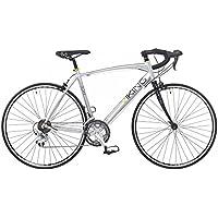 Viking Vuelta–Bicicletta da corsa su strada 700C, Telaio 56cm 14velocità in lega argento