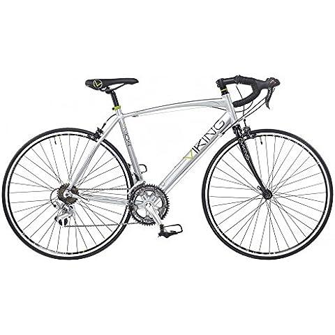 Viking Vuelta–Bicicletta da corsa su strada, 700C 14velocità telaio 59cm in lega argento