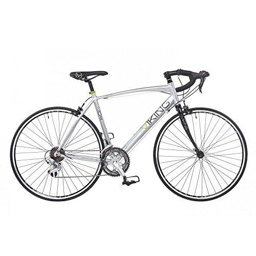 Viking Vuelta Herren Road Racing Bike 700C-Rad 14Rahmen 53cm Metalllegierung Silber vn104 (Viking Release Quick)