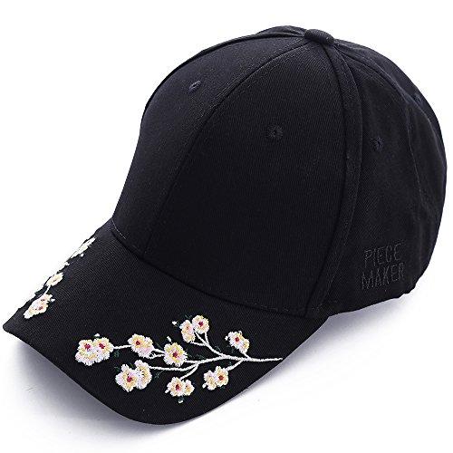 Baseballcap Hut Hüte Sommermützen Damen Mädchen Schwarz