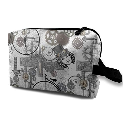 Trousse à maquillage pour sac à main, Steampunk Collage - Jour 10_150, Tissu Oxford Sac de voyage coloré Mini