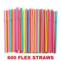 Ikea Smoothie Straws Extra Wide Flow Assorted Colors