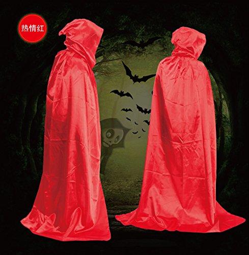 kleidung, Gold - und Silber - umhang Schloss zauberer umhang Tod umhang erwachsene. (Rot) (Schloss Halloween-kostüm)