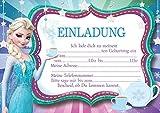 10 Einladungen zum Kindergeburtstag Die Eiskönigin Frozen Invitations in German