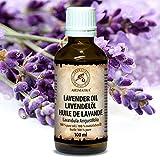 Huile de lavande, huile essentielle 100% naturelle 100ml, huile de lavande pure et naturelle, Lavandula angustifolia, Bulgarie - meilleur pour un bon sommeil - beauté - aromathérapie - détente - massage - diffuseur d'arômes