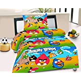 """Purav Light 100% Cotton Single BedSheet (60"""" X 90"""") With 1 Zipped Pillow Cover (18"""" X 27"""") 144 TC Cartoon Printed Kids Room Decoration Soft Feel And Premium Quality Multi Color"""
