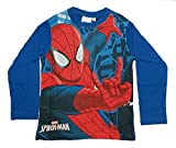 SPIDERMAN, MARVEL Camiseta de Manga Larga - Para Niño Azul Azul 4...