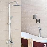 BY-Piazza caldi e freddi rubinetti, gruppo vasca bagno, doccetta doccia testa di rame, ugelli supplementari possono essere sollevati o abbassati,