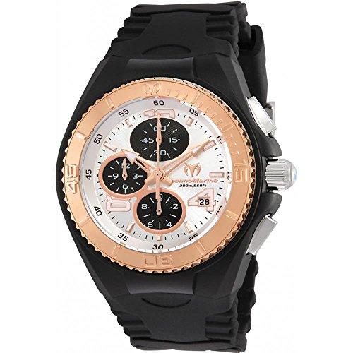 technomarine-cruise-damen-armbanduhr-40mm-armband-silikon-schwarz-gehause-edelstahl-batterie-tm-1152