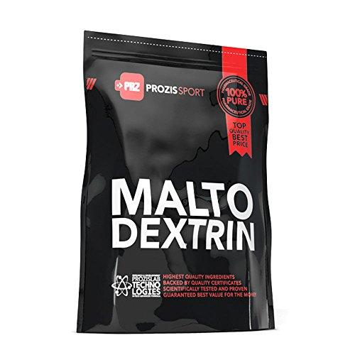 Prozis Maltodextrine Poudre 2kg - Stimule l' Énergie, la Récupération et les Performances Sportives - Convient pour les Végétariens et les Végans - Sans Graisses Ni Sucres - 50 Portions