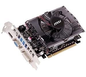 MSI NVIDIA GeForce GT 630 Grafikkarte (PCI-e, 2GB, GDDR3 Speicher, DVI, HDMI, D-SUB, 1 GPU)