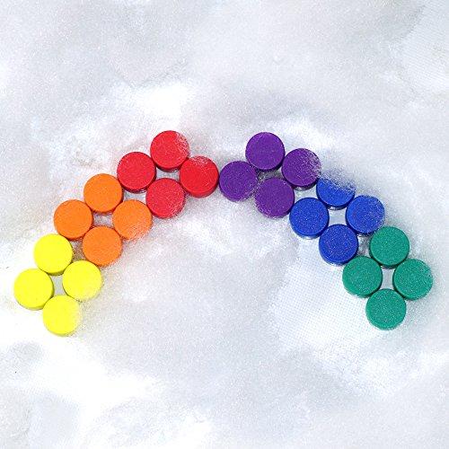 24 farbenfrohe Magnete - EXTRA STARK Neodym gummierte Schutzschicht (ø12x6mm) | einzigartig | starke neodym Magnete für Magnettafel, Whiteboard, Glasmagnettafel und als Kühlschrankmagnete