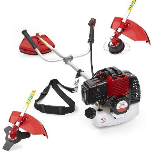 Trueshopping Podadora Desbrozadora Modelo de 2 Tiempos a Gasolina 49cc 1,65 KW / 2,2HP