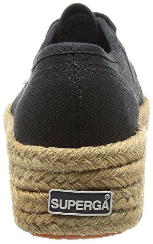 Superga Damen 2790-Cotropew Niedrige Sneaker Schwarz