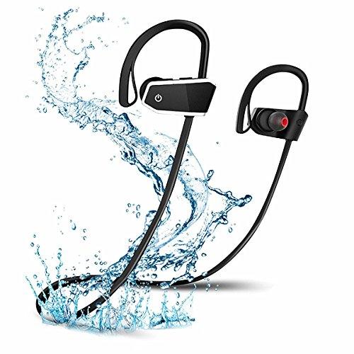 Wireless Bluetooth cuffie, Voberry IPX7impermeabile sport, Auricolari, microfono integrato, Stereo Sound, CVC 6.0rumore HD Stereo schweissfest orecchini, sicuro fit auricolari orecchio in Z10