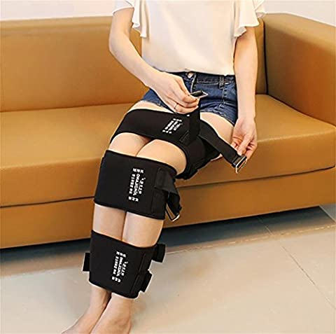 XIXI O Formulaire X Forme Jambières Correction Ceinture Intensive Corrective Leg Bandage Beauté Foot Care Tools Noir