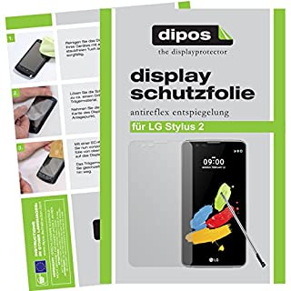 dipos LG Stylus 2 Schutzfolie (2 Stück) - Antireflex Premium Folie matt