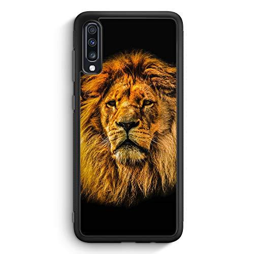 Löwe Lion Strahlend - Silikon Hülle für Samsung Galaxy A70 - Motiv Design Tiere Schön Jungs Männer - Cover Handyhülle Schutzhülle Case Schale -