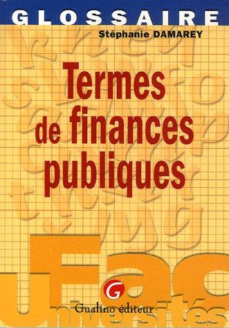 Termes de finances publiques par Stéphanie Damarey