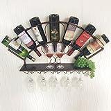 SUBBYE Porta bottiglie da vino Scaffale Del Governo Di Vino Di Vetro Di Attaccatura Di Ferro Di Attaccato Al Muro Fissato Al Muro Scaffale Del Vino Di 83cm * 13cm * 40cm 2 Colori Facoltativi ( Colore : Bronzo )