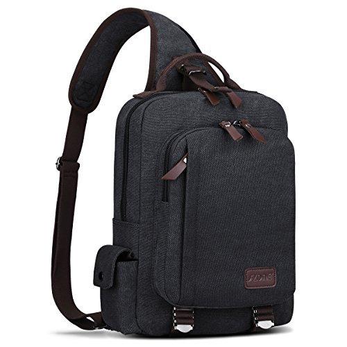 S-ZONE Herren 13 Inch Laptop Umhängetasche Schultertasche Aktentasche Rucksack Outdoor Gym