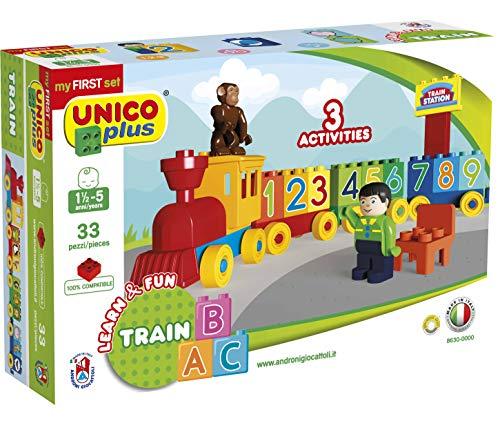 Unico Plus Zahlen Zug Bausteine Eisenbahn 33 TLG