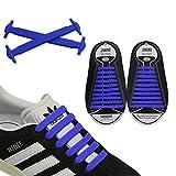 JANIRO Elastische Silikon Schnürsenkel – flexibler Schuhbänder Ersatz ohne Binden - Kinder & Erwachsene - 20 Stück - Dunkelblau