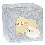 Cesta de juguete,cesta de almacenaje,organizador de juguetes 33x33x33cm Lucky Sign-care(oveja)