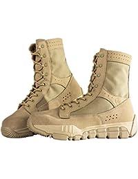 Libre Soldado táctico hombres de piel de ante botas de media caña transpirable ligero zapatos de senderismo, hombre, 7.5 UK
