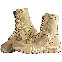 Free soldier Botas militares piel de ante para hombre, corte por encima del tobillo,