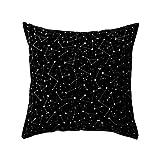 Sukisuki Black White Geometric Pillowcase Cushion Cover Home Sofa Decorative Pillowcase