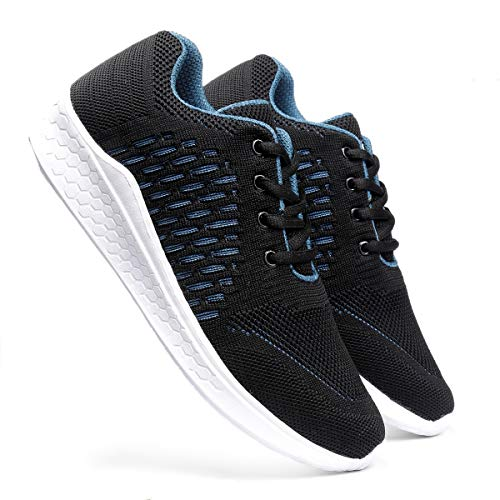 meriggiare® Women Fashion Sneakers Lightweight Sport Gym Jogging Casual Walking Air Cushion Athletic Tennis Running Sports Shoes-Black