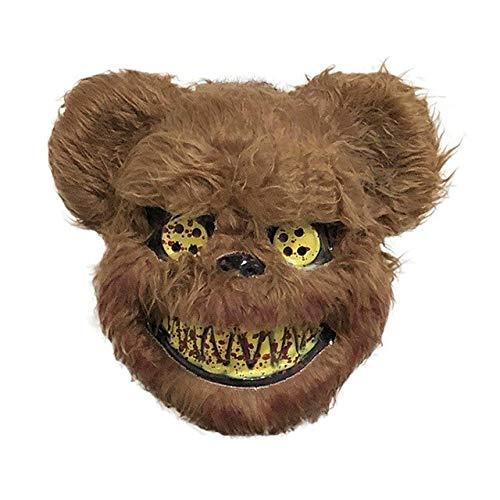 Killer Bunny Kostüm - KKEINYE Halloween Horror Maske Tier Bunny Scary Mask Streich Evil Bloody Rabbit Mask Plüsch Plüschtier Horror Killer für Party Kostüm C