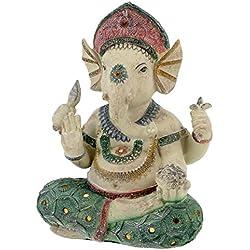 Hindú Dios Ganesha Estatua Multicolor 23cm sentado Buda hindú Ismus suerte Dios