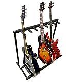 7Guitare en métal Noir rembourré support pliable, portable, guitare électrique et acoustique Stage Rack