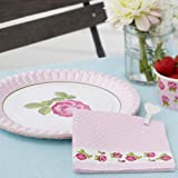 Shabby Chic Vintage Rose Design Paper Napkins Pack 20 great for Summer parties