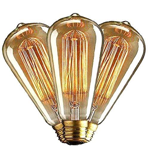 intage MasterGlobe Glühbirne (40W, E27, 220-240V) Ideal für Nostalgie und Retro Beleuchtung- 3 Stück ()