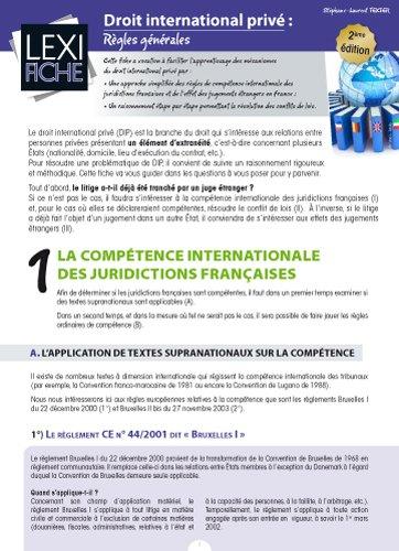 Droit international privé : Règles générales