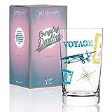 RITZENHOFF Everyday Darling Softdrinkglas von Alice Wilson, aus Kristallglas, 300 ml, mit trendigen Dekoren
