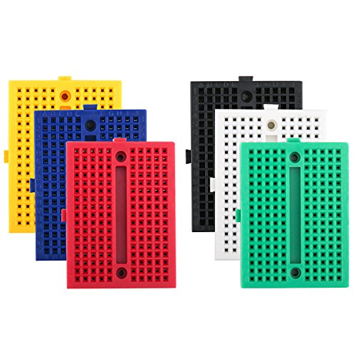ELEGOO 6er Set 170 Tie Points Mini Breadboard Kit für Arduino