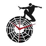 12-Zoll Superheld Spiderman Stereo Wanduhr Für Wohnzimmer Schlafzimmer Büro Küche Dekorative Uhr Wall Clock