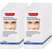 Pawaca 24 tiras para eliminar puntos negros, minimizar el poro de la nariz, tiras para limpieza profunda de la nariz