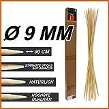 FaNTaSTiQu Jumbo XXL BBQ bambù Sticks Ø 9mm, Lunghezza 90cm, ottima qualità, falò, spiedi per barbecue, spiedi, salsicce, Grigliare, Hotdog, Legno, ecologico, Biodegradabile, con libro di ricette