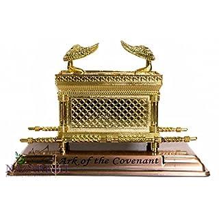 Statue Kupfer Ark der Pakt 18.03 cm Judaica Israel, jüdisches Testimony