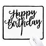DIYthinker Alles Gute zum Geburtstag präsentiert beste Wünsche Non-Slip Mousepad Spiel Büro Schwarz Titched Geschenk Edges