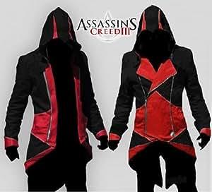 assassin 39 s assassins creed 3 iii conner capuche hoodie jacket veste cosplay costume d guisement. Black Bedroom Furniture Sets. Home Design Ideas