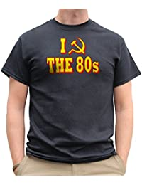 Nutees I Love 80's Fancy Dress Costume Party Funny Mens T Shirt - Black
