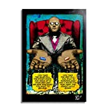 Arthole.it Morpheus dal Film Matrix (1999, Wachowsky). Quadro Pop-Art Originale con Cornice, Dipinto, Stampa su Tela, Poster, Locandina
